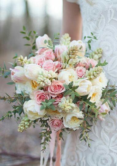 Bouquet romantico tonos pastel