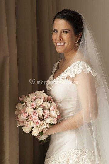 Bouquet ivory y palo rosa