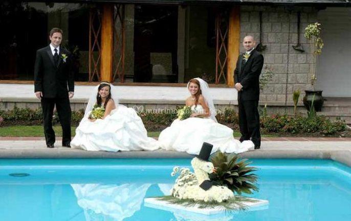 Evento junto a la piscina