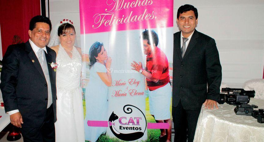 Cat Eventos en su matrimonio