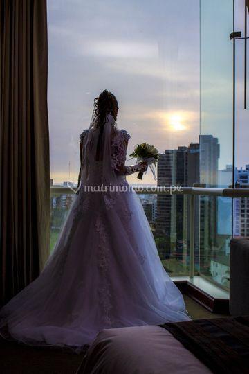 Novia en el hotel