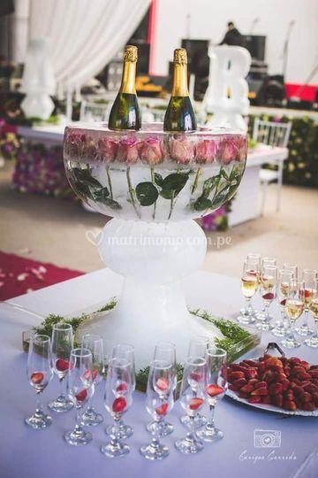 Champanero de hielo