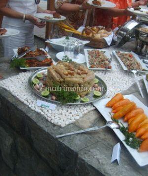 Mesa del buffet árabe