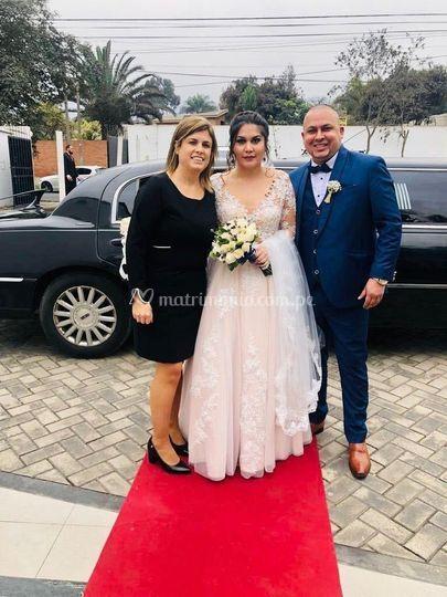 Los novios y la wedding