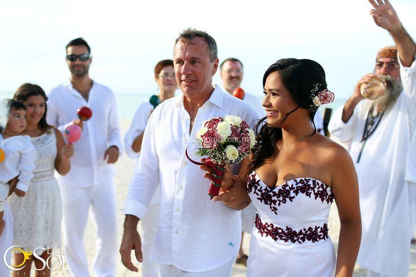 Recién casados en Riviera Maya