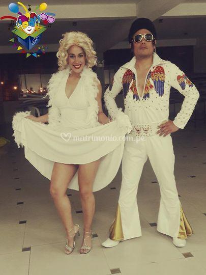 Elvis y Marilyn
