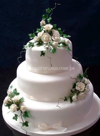 Torta para matrimonio