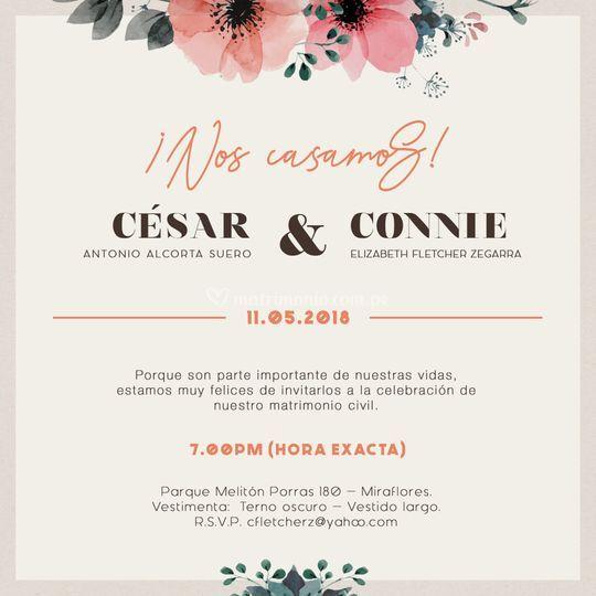 Parte - Cesar y Connie