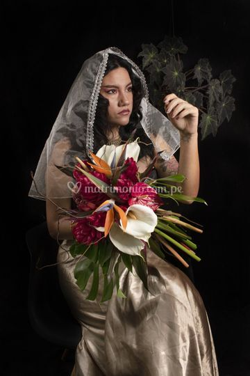 Ramo de novia exótico