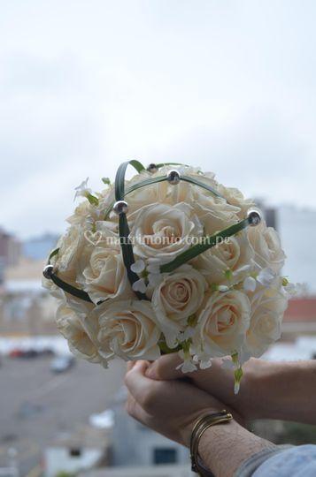 Bouquet de novia con perlas