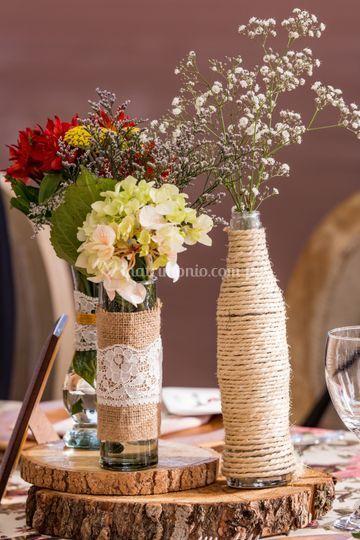 Base de flores rustico