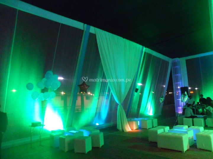 Salas lounge con luces led