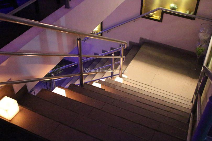Unas velas en las escaleras