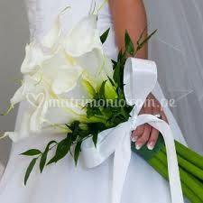 Bouquet con calas blancas