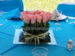 Centro de rosas rosadas