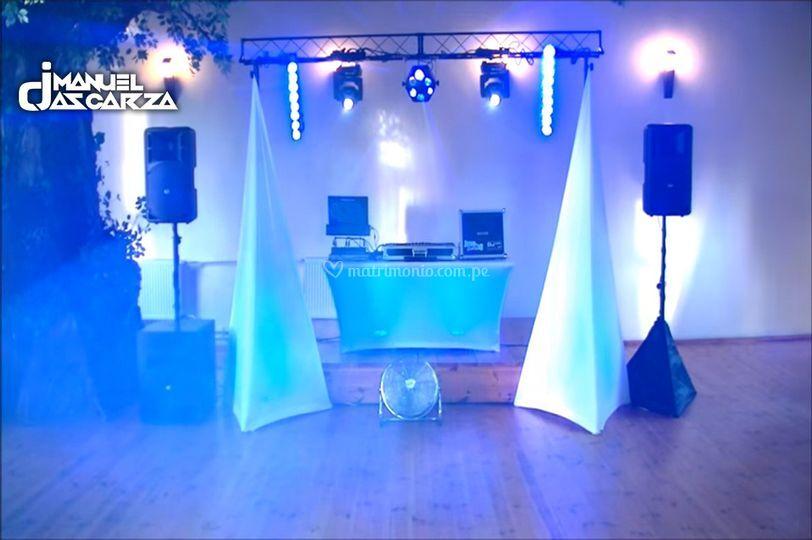 Set up de sonido e iluminación