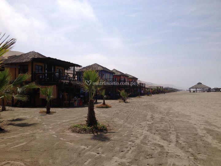 Cabañas frente al mar