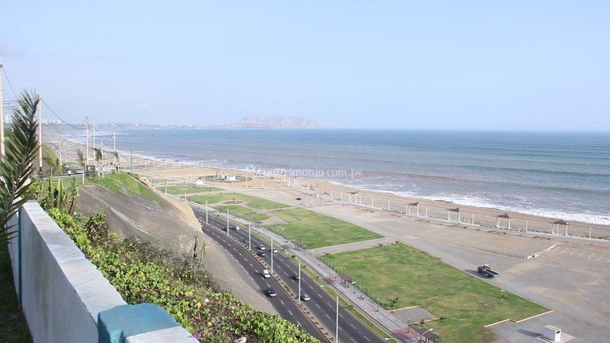 Con vista a la playa