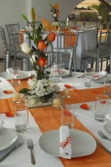 Lindo centro de mesa