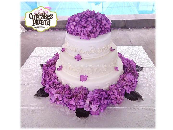 Torta y maqueta de boda
