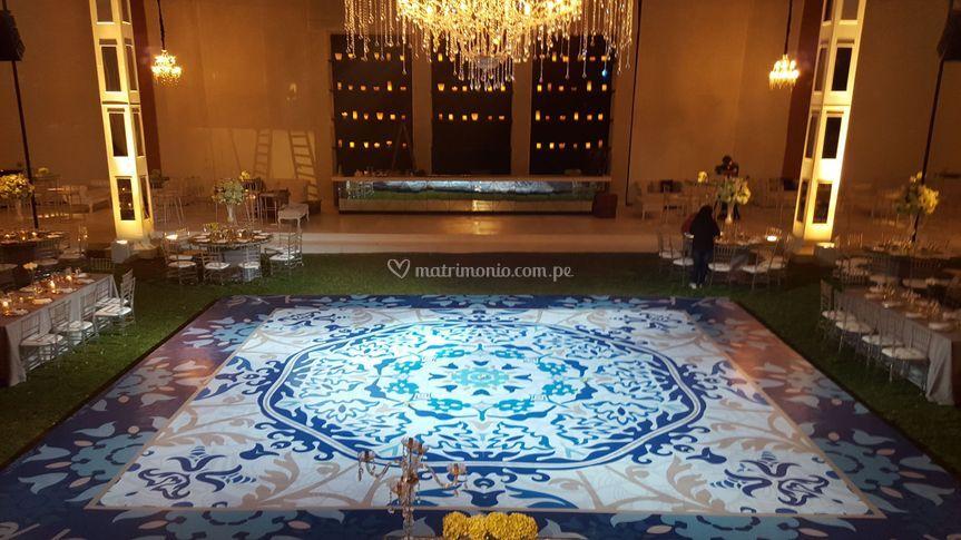 Vista panorámica boda