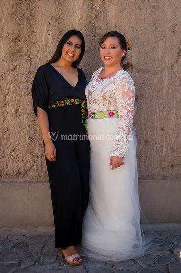 Con la novia linda