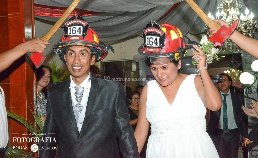 Boda bomberos