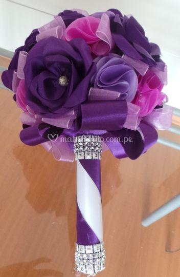 Bouquet flores lilas