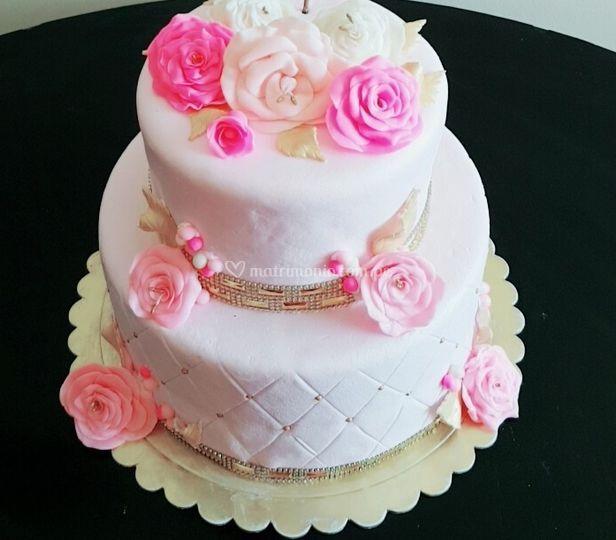 Torta degrade rosa
