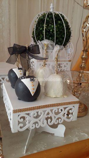 Manzanas decoradas boda