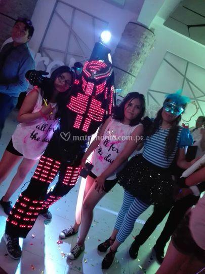 Hora loca con robot led