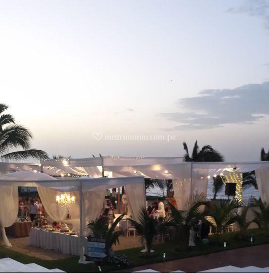 Vista exterior de la fiesta