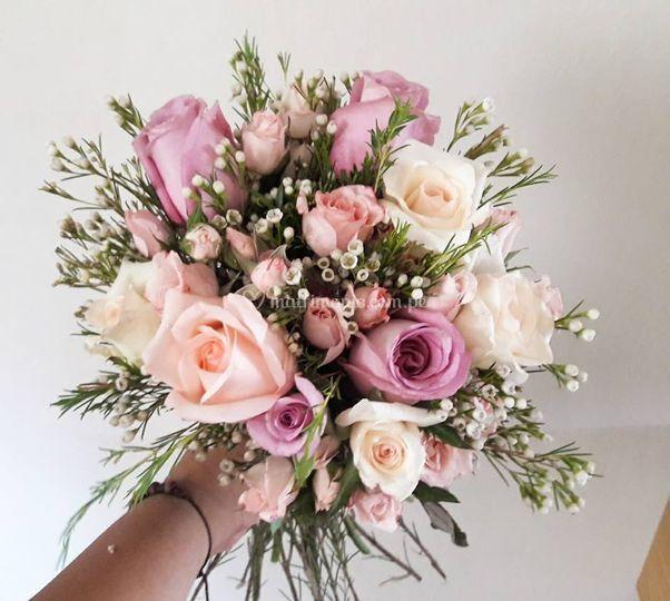 Bouquet Rosado -Vintage