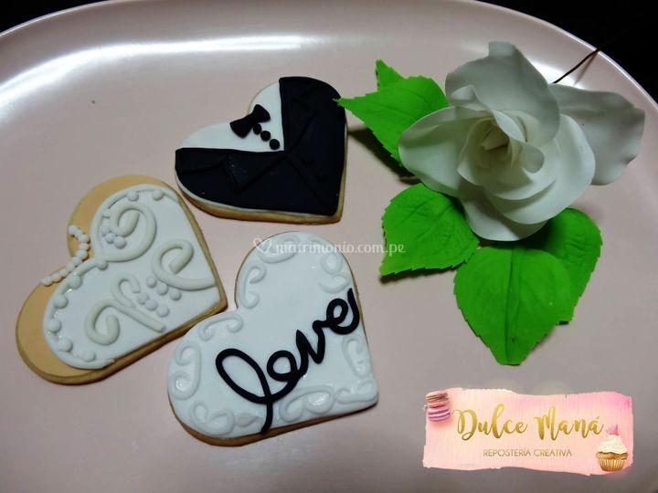 Galleta recuerdo boda