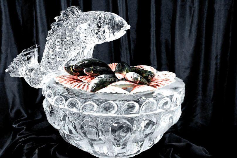 Bowl con adorno de pez