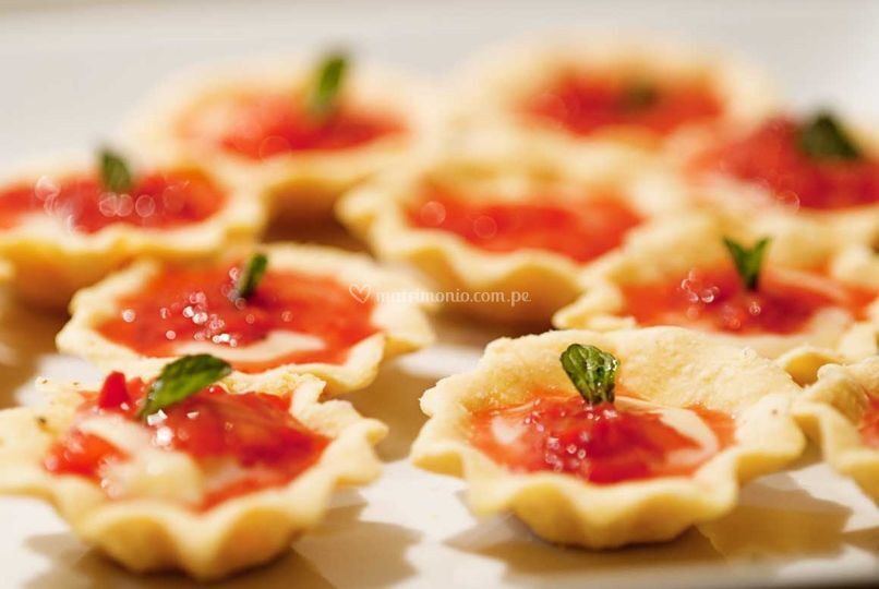 Tartaletas de limón y fresas