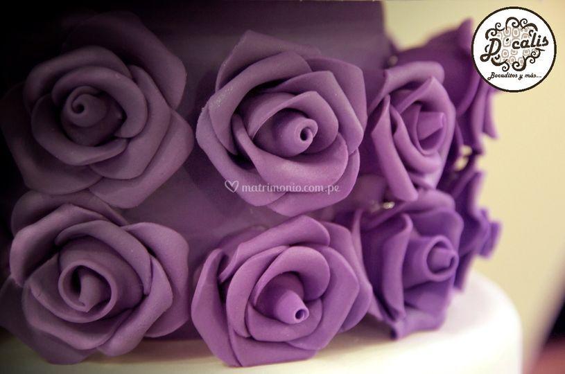 Decoración flores para tortas
