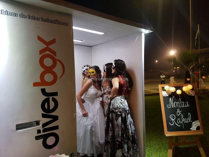 Cabina en boda