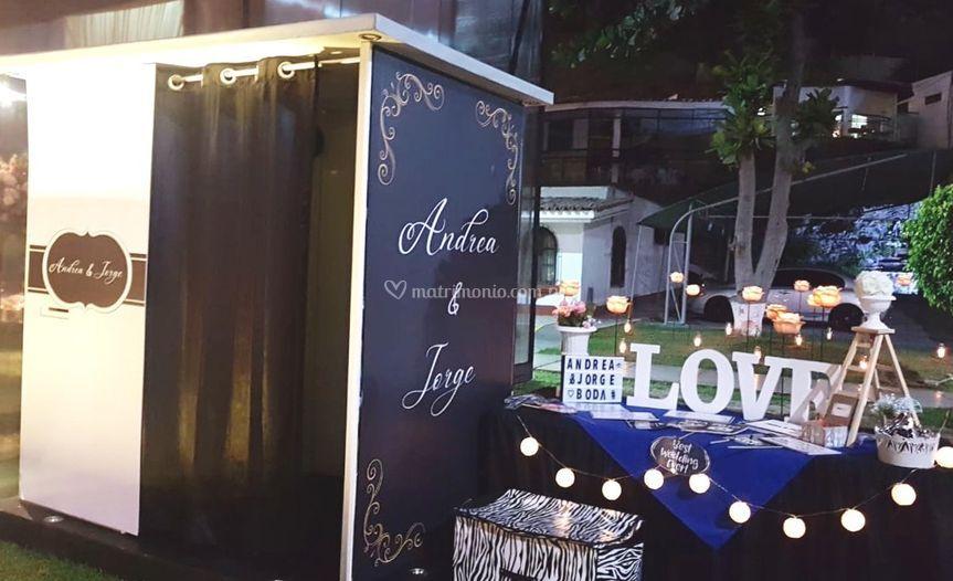 Cabina de fotos boda