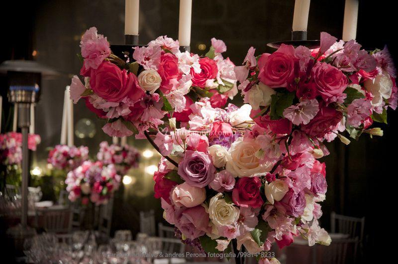 Candelabros de rosas