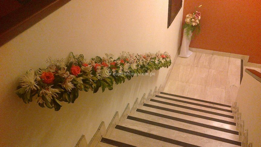Decorado de escalera