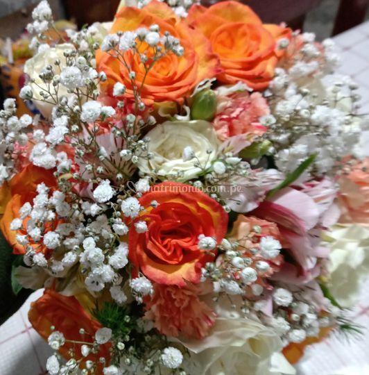 Bouquet colores cítricos
