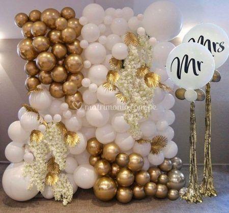 Mural de globos boda
