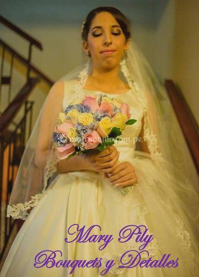 Bouquet en colores pasteles
