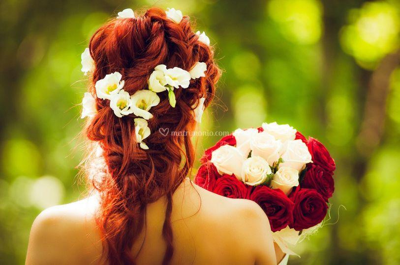 La novia y el ramo