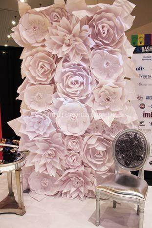 Backing de flores de papel