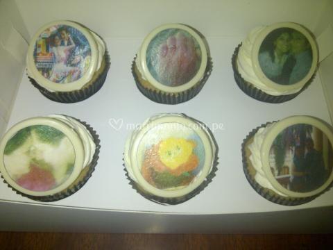 Cupcakes con fotos