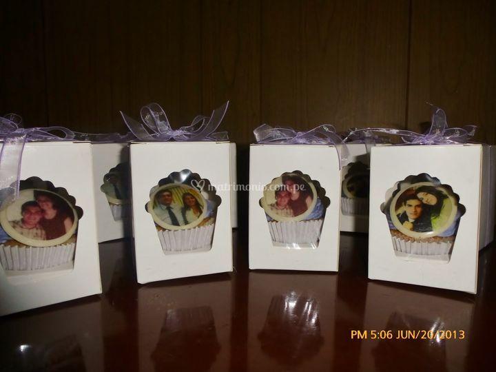 Cupcakes con fotos impresas