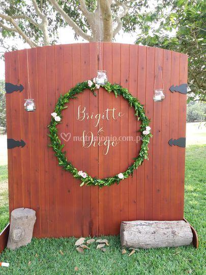 Portón de entrada boda
