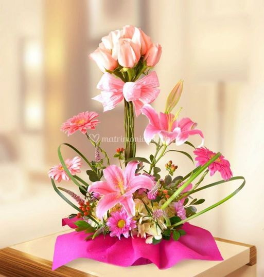 Hermoso centro de orquídeas